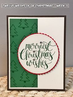 Unfrogettable Stamping | QE Christmas Week 3 card featuring the Watercolor Christmas stamp set by Stampin' Up!