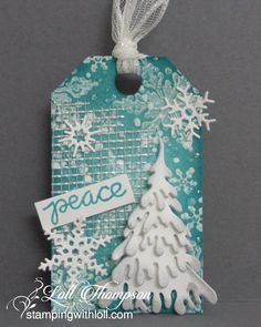 Mixed Media Christmas Tag