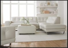 Natuzzi Leather Sofas & Sectionals by Interior Concepts Furniture: Look what just came in! #Natuzzi Editions white #leather #Sectional B636!