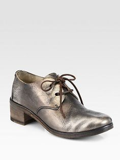 Marsell - Metallic Leather Lace-Up Oxford Loafers - Saks.com