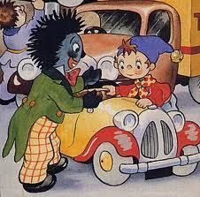 When Noddy returns to Toyland he will be missing one of his friends. Author Sophie Smallwood, Enid Blyton's granddaughter, has decided to banish golliwogs. Childhood Friends, Childhood Toys, Childhood Memories, Vintage Books, Vintage Cards, Vintage Ephemera, Vintage Paper, Enid Blyton Books, Kids Book Series