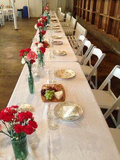 Carnation head table