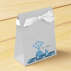 It's A Boy! Cute Whale Favor Box