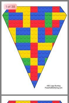 - Lego Printables - www. Lego Birthday Banner, Lego Banner, Lego Birthday Party, Diy Banner, Lego Party Decorations, Party Themes, Party Ideas, Lego Ninjago, Lego Printable Free