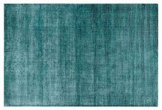 One Kings Lane - Color Theory - Hana Rug, Aqua: dining room? Aqua Color, Green Colors, Teal, Turquoise, Aqua Rug, Rugs In Living Room, Room Rugs, Solid Rugs, Apt Ideas