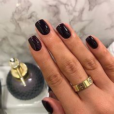 50 stunning short nail designs to inspire your next manicure - # . - 50 stunning short nail designs to inspire your next manicure # stunning inspire # - Nails Gelish, Matte Nails, My Nails, Manicures, Plum Nails, Shellac Nail Colors, Shellac Nail Designs, Nail Tip Designs, Zebra Nails