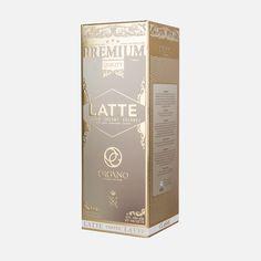 Non Dairy Creamer, Italian Espresso, Italian Words, Coffee Beans, Latte, Gold, Packaging Design, Design Packaging, Package Design