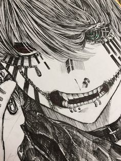 Anime Drawings Sketches, Anime Sketch, Cool Drawings, Emo Kunst, Anime Kunst, Manga Art, Manga Anime, Anime Art, Kunst Inspo