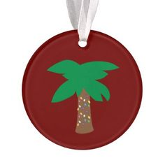 #Holiday Palm Tree Ornament - #Xmas #ChristmasEve Christmas Eve #Christmas #merry #xmas #family #kids #gifts #holidays #Santa