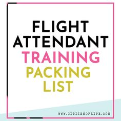 Flight Attendant Training Packing List - Citizen of Life Flight Attendant Packing, Become A Flight Attendant, Flight Attendant Life, Packing List For Cruise, Packing Checklist, Cruise Vacation, Packing Ideas, Vacation Packing, Travel Packing