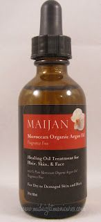 Midnight Manicures: Maijan Argan Oil - Click through to read the review.
