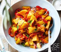 Grilled Pineapple and Kumara Salad Wine Recipes, Snack Recipes, Snacks, Kumara Salad, Vegetable Dishes, Food Inspiration, Pineapple, Grilling, Salads