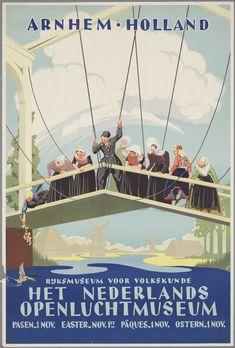 affiche van het Nederlands Openluchtmuseum 1954