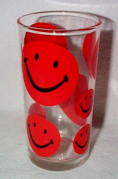 smiley face glass