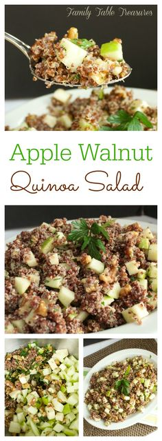 This Apple Walnut Quinoa Salad is loaded with chunks of juicy green apples, crunchy walnuts, cheddar cheese and drizzled with my Raw Apple Cider Vinaigrette