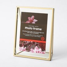 Showcase your favourite photos, memories, even dried botanicals. in a novel way with this vintage inspired brass and glass floating frame, with a. Laundry Decor, Wire Frame, Rooms Home Decor, Floating Frame, Free Delivery, Vintage Inspired, Target, Wedges, Brass