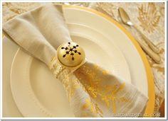 DIY Christmas Jingle Bell Napkin Rings