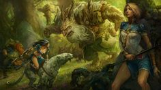 Silvan Picture  (2d, fantasy, goblin, battle, creature, silvan, dwarf, warriors)