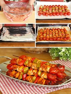 Chicken Bake Skewer, Soft Delight Like Turkish Delight - Yummy Recipes Yummy Recipes, Lunch Recipes, Meat Recipes, Yummy Food, Turkish Delight, Turkish Recipes, Italian Recipes, Fish And Meat, Middle Eastern Recipes
