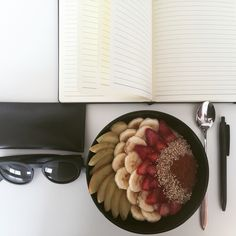 #Breakfast and #Work. Make your #food #beautiful  and Eat with #Spoon!