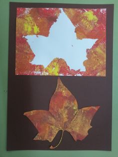2 crafts in one! Fall Arts And Crafts, Autumn Crafts, Fall Crafts For Kids, Autumn Art, Nature Crafts, Autumn Theme, Art For Kids, Fall Preschool, Preschool Crafts