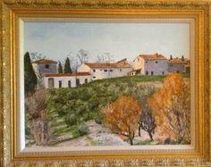 """Across Via barni"" Original Gouache/panel-framed Interior measure: 24""x18"" Available through artist  Giclee print: $85.00: Free shipping;2015"