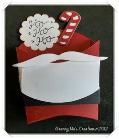 Santa Fry Box Container use SU moustache framelit