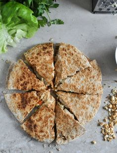 Thai Chicken Quesadillas I howsweeteats.com