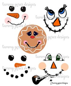 Scarecrow Snowman Gingerbread SVG DXF - Digital File for Craft Cutting by TammyPerezDesigns on Etsy