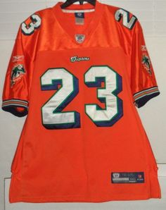 a5b8396fe NFL On Field Miami Dolphins Reebok Sewn Jersey Ronnie Brown 23 Men Size 50-  XL
