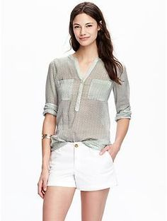 Womens Gauze Pull-Overs Old Navy -- Baby fish!!!