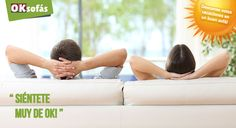 ¡Llegan las #vacaciones! Es el momento de #descansar en un buen #sofá, es tu #momento ok, siéntete ok! www.oksofas.es
