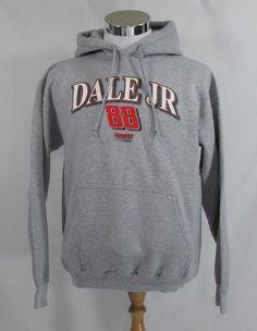 Dale Earnhardt Jr. #88 Gray Hoodie Men's Sz. M Hendrick MotorSports Sweatshirt  #HMS #Hoodie