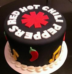 Red Hot Chili Peppers Cake!! www.ValsCakeAndBake.com