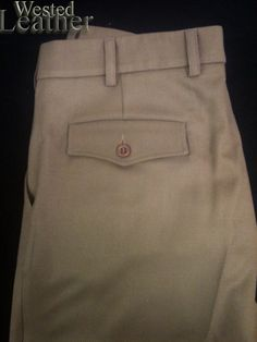 "Harrison Ford ""Indiana Jones"" Pants / Trousers 100% Wool Calvary Twill"