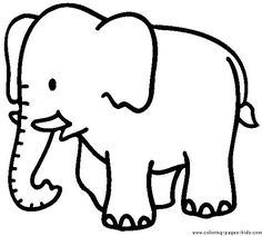 Elephant Coloring Page, Animal Coloring Pages, Coloring Book, Elephant Information, Preschool Elephant Crafts, Preschool Colors, Preschool Art, Elephant Game, Elephant India