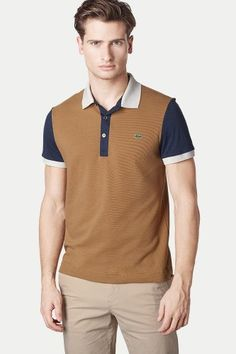 Polo top. The masculine way to color block. Polo Shirt Design 6aa2429007714