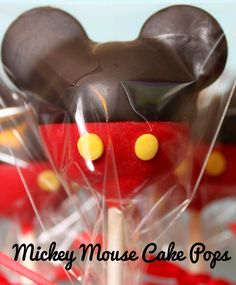 Mickey Mouse Cake Pops ~ Pinned by Federal Financial Group LLC #FederalFinancialGroupLLC #desserts ffg2.com facebook.com/...