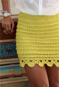 Click to view pattern for - Crochet yellow skirt