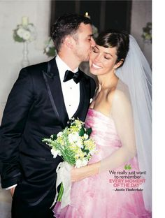 Jessica walked down the aisle in a custom petal pink Giambattista Valli Haute Couture gown. (She also wore Martin Katz earrings) Justin Timberlake wore a custom made black TOM FORD tuxedo to his wedding to Jessica Biel in Puglia, Italy on October 19, 2012. Keywords: #weddings #jevelweddingplanning Follow Us: www.jevelweddingplanning.com  www.facebook.com/jevelweddingplanning/