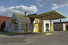 Former Conoco gas station on Route 66 in El Reno, OK near intersection of Rt. 66 and Hwy 81--occupied by Lee Donuts in Sept 2014