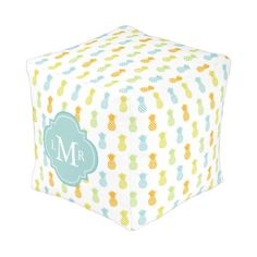 Monogrammed Rainbow Pineapples Cube Pouf  http://www.zazzle.com/monogrammed_rainbow_pineapples_cube_pouf-256878021767577807?rf=238588924226571373