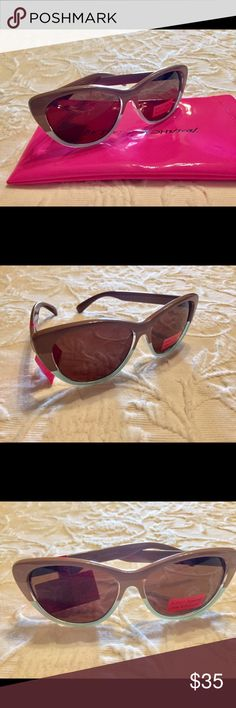 Betsey Johnson Brown Cat-Eye Sunglasses 😎 Betsey Johnson Brown Cat-Eye Sunglasses. Shade your eyes with timeless style with these Cat-eye 3 tone colored sunglasses, 💯 UV Protection to complete your style, on the beach or driving sets your style apart from any other. Comes with soft case. NWT😎🌹👙 Betsey Johnson Accessories Sunglasses