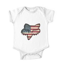 7b22ba3b951  Fox Racing American Flag  Kids Clothes by Robjohnsilvers.