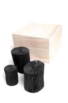 ::PRODUCTS:: Love the simple packaging and presentation of these coal products.