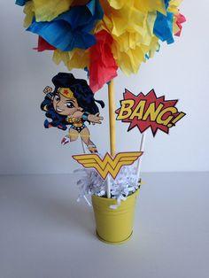 Wonder Woman Super Hero birthday party by AlishaKayDesigns on Etsy