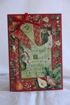 Graphic 45 '12 Days of Christmas' card by Helen of Helen's Card Designs - Wendy Schultz ~ Graphic 45 Cards & Layouts.