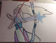 Water color painting of opal from steven universe