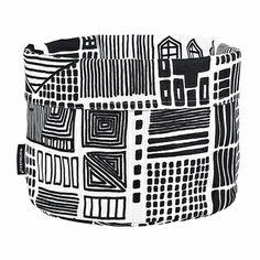 Use this container for bread in the kitchen, toys in the playroom, remotes in the living room or wherever you need an attractive way to de-clutter. Marimekko Onnea Etsimässä White/Black Bread Basket - List: $38.50 Sale: $30.75