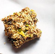 Quinoa-Pistachio Granola Bars | Double Thyme